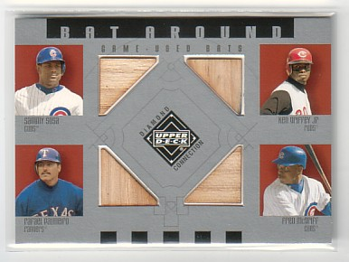 2002 Upper Deck Diamond Connection Bat Around Quads #SGPM Sosa/Grif/Raffy/McGriff