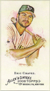 2008 Topps Allen and Ginter Mini A and G Back #258 Eric Chavez