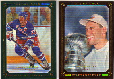 2008-09 UD Masterpieces Green #87 Mark Messier