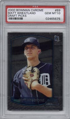 2000 Bowman Chrome Baseball Draft Picks #89 Matt Wheatland Rookie Gem Mint PSA 10