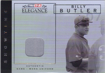 2007 TRISTAR Elegance Showtime Game Used #BB Billy Butler