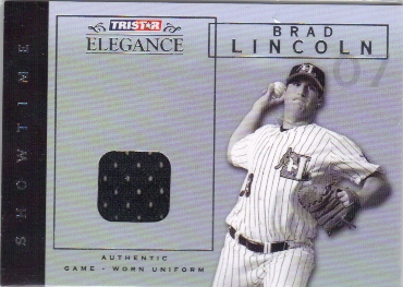 2007 TRISTAR Elegance Showtime Game Used #BL Brad Lincoln