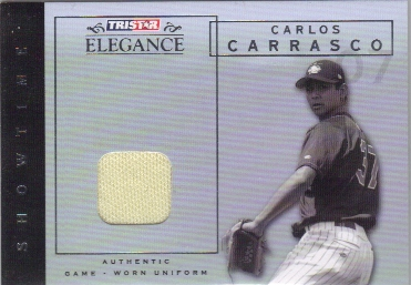 2007 TRISTAR Elegance Showtime Game Used #CC Carlos Carrasco