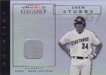 2007 TRISTAR Elegance Showtime Game Used #DS Drew Stubbs