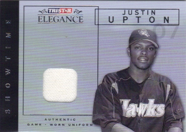 2007 TRISTAR Elegance Showtime Game Used #JU Justin Upton