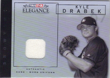 2007 TRISTAR Elegance Showtime Game Used #KD Kyle Drabek