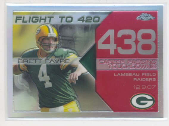 2008 Topps Chrome Brett Favre Collection Red Refractors #BF438 Brett Favre