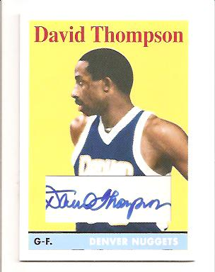 2008-09 Topps 1958-59 Variations Autographs #170 David Thompson F