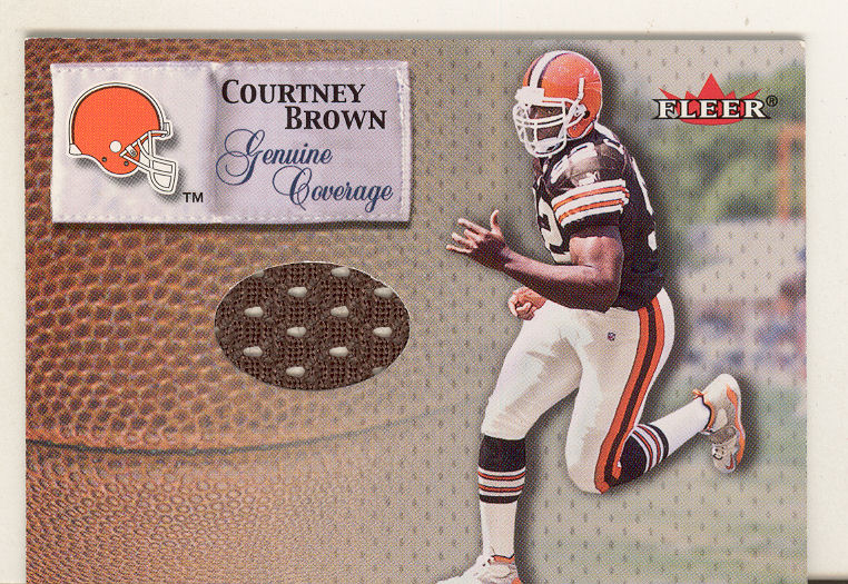 2000 Fleer Tradition Genuine Coverage #6 Courtney Brown