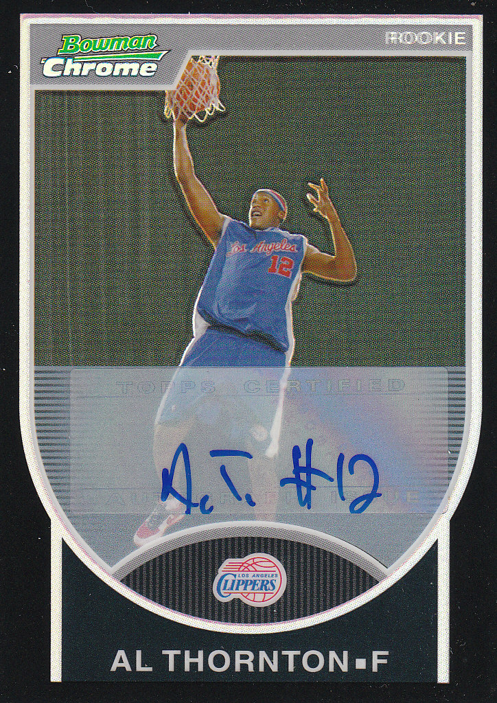 2007-08 Bowman Chrome Refractors Rookie Autographs Black #131 Al Thornton