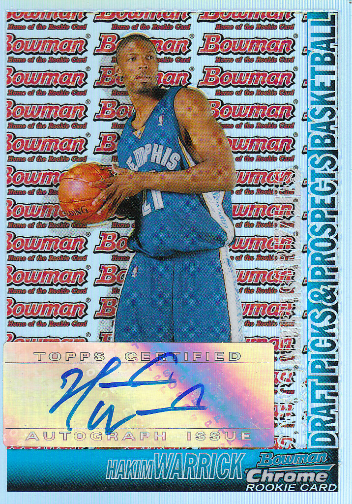 2005-06 Bowman Chrome Refractors #158 Hakim Warrick AU