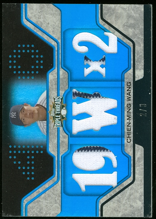 2008 Topps Triple Threads Relics Sapphire #23 Chien-Ming Wang