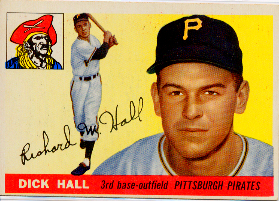 1955 Topps #126 Dick Hall RC