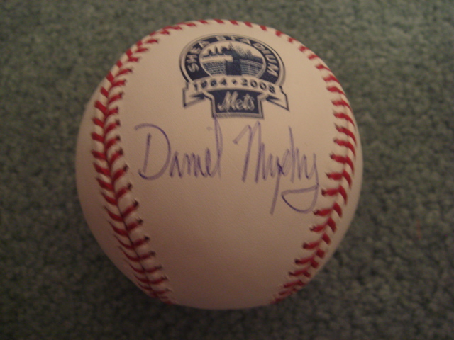 Daniel Murphy Autographed Official MLB Shea Stadium Final Season Baseball With Steiner COA