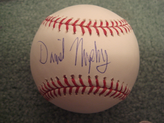 Daniel Murphy Autographed Official MLB Baseball With Steiner COA