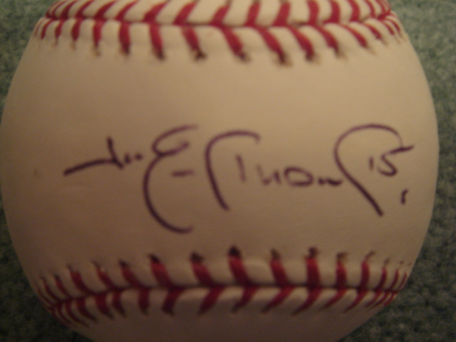 Jim Edmonds Autographed Official MLB Baseball With COA