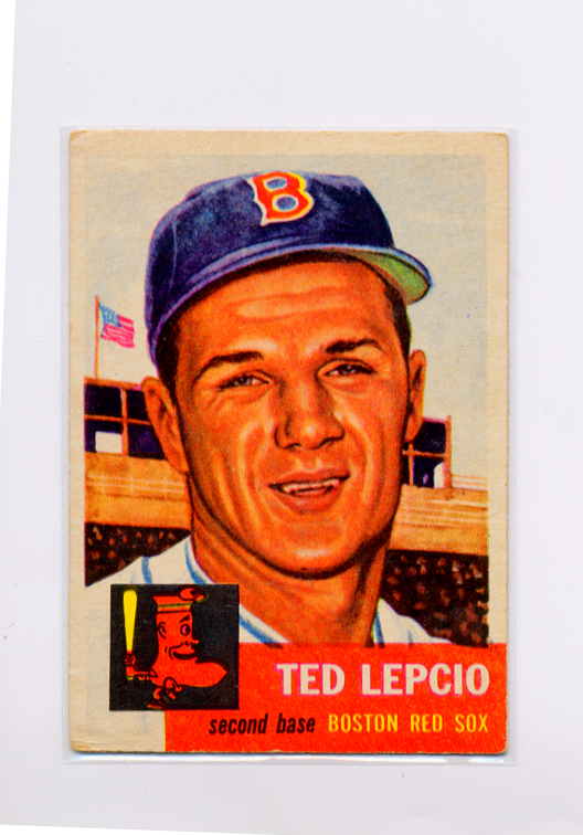 1953 Topps #18 Ted Lepcio DP