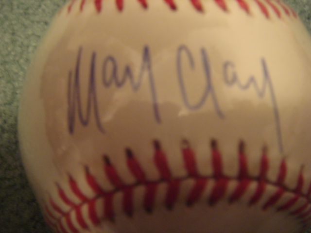 Mark Clark Autographed Official N.L. Baseball With COA 