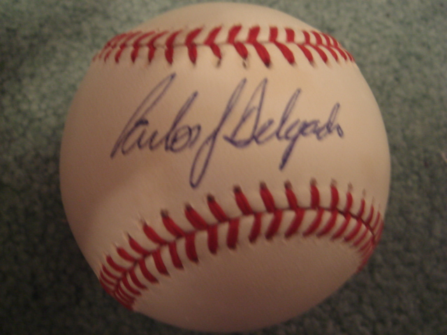 Carlos Dalgado Autographed Official A.L. Baseball With PSA COA