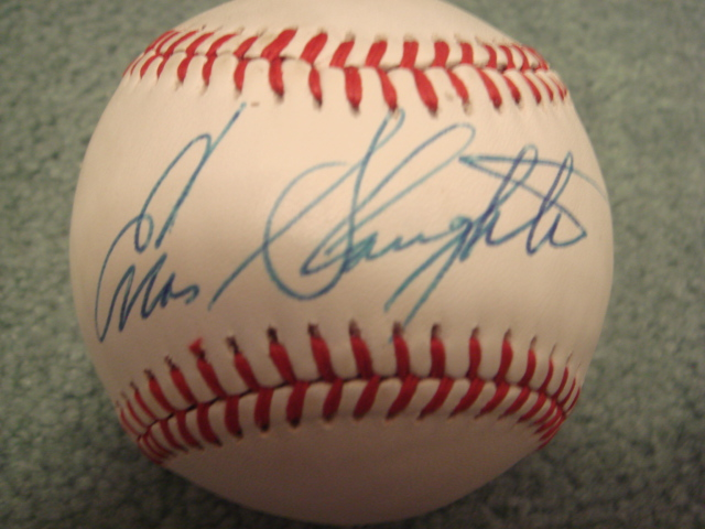 Enos Slaughter Autographed Official N.L. Baseball With COA