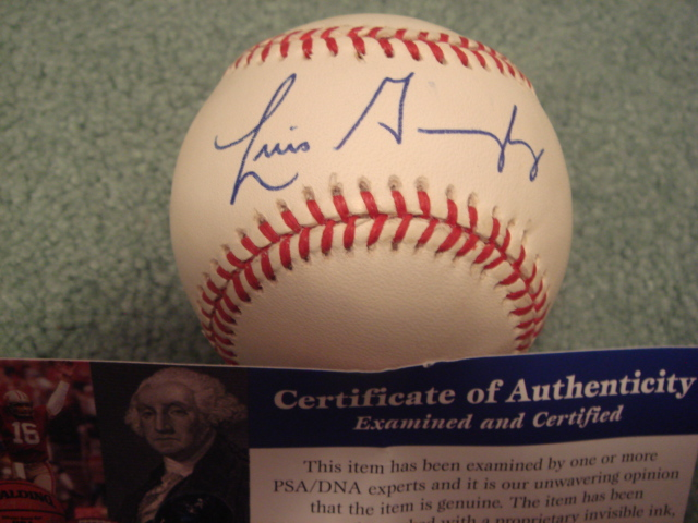 Luis Gonzalez Autographed Official N.L. Baseball With PSA COA 