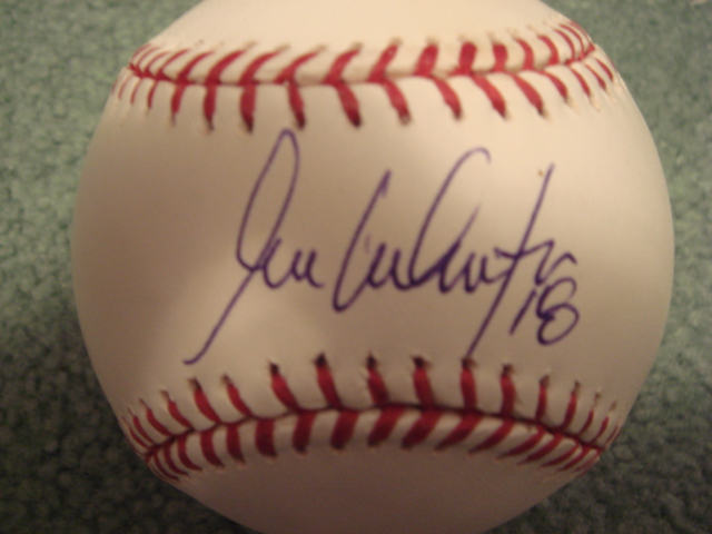 Jose Valentin Autographed Official MLB  Baseball With Steiner COA