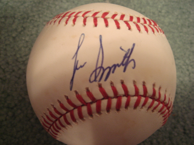 Lee Smith Autographed Official N.L. Baseball With COA