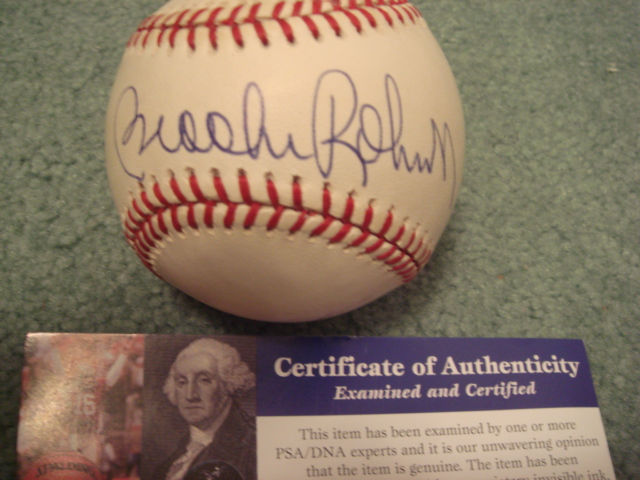 Brooks Robinson Autographed Official A.L.Budig Baseball With PSA COA