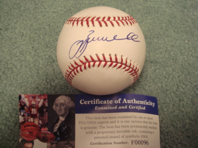 Jeff Bagwell Autographed Official MLB Baseball With PSA COA