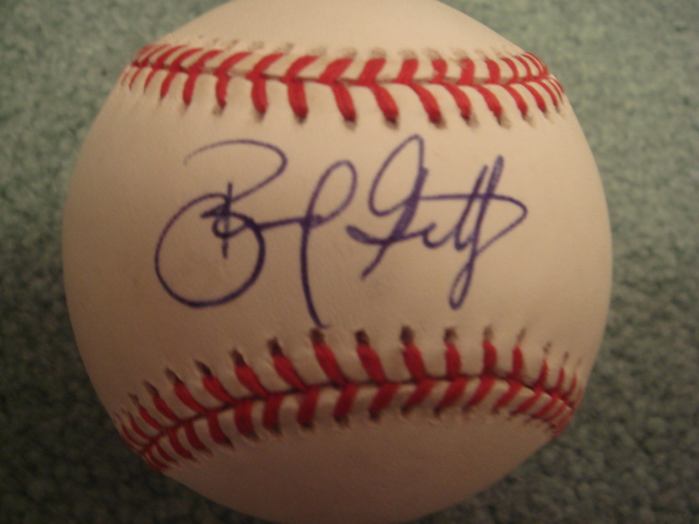 Bernard Gilkey Autographed Official N.L. Baseball with COA