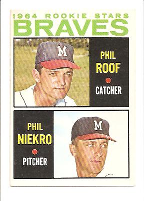 1964 Topps #541 P.Roof/P.NiekroRC EXMT Actual scan