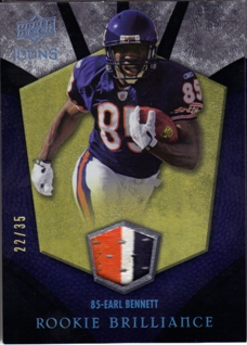 2008 Upper Deck Icons Rookie Brilliance Jersey Patch #RB9 Earl Bennett