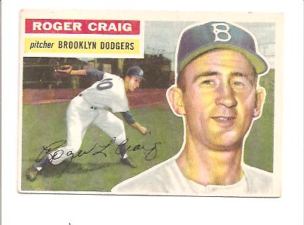 1956 Topps #63 Roger Craig RC