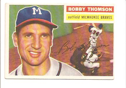 1956 Topps #257 Bobby Thomson