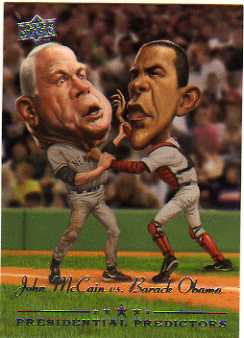 2008 Upper Deck Presidential Running Mate Predictors #PP11 Barack Obama/John McCain