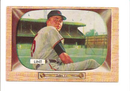 1955 Bowman #62 Royce Lint RC EX Actual scan