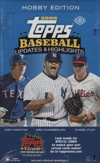 2008 Topps Updates & Highlights MLB Baseball Sports Trading Cards Hobby Box