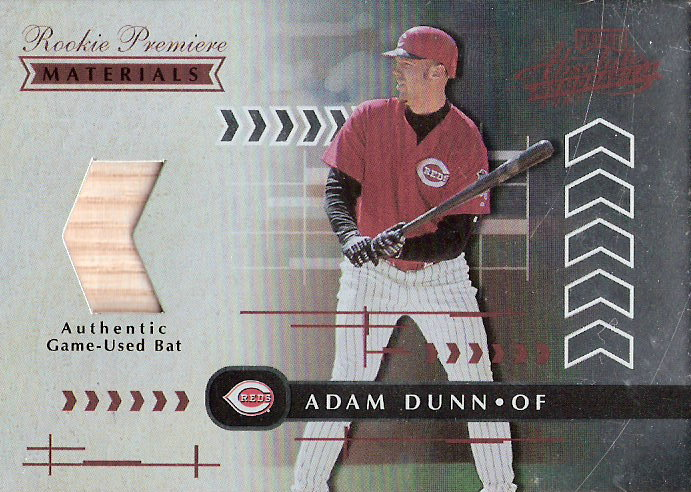 2001 Absolute Memorabilia #187 Adam Dunn RPM