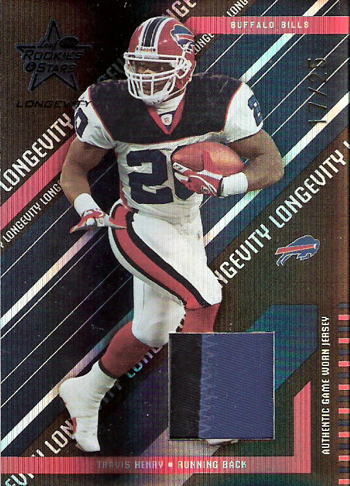 2004 Leaf Rookies and Stars Longevity Materials Black #13 Travis Henry/25