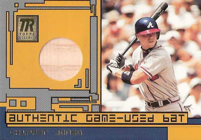 2001 Topps Reserve Game Bats #TRRCJI Chipper Jones