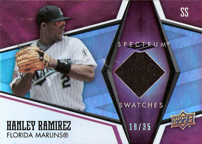 2008 Upper Deck Spectrum Spectrum Swatches Red #HR Hanley Ramirez