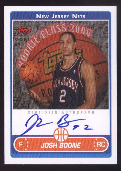 2006-07 Topps Rookie Photo Shoot Autographs #JB Josh Boone