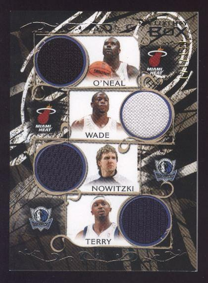 2006-07 Topps Luxury Box Relics Quad #8 Shaquille O'Neal/Dwyane Wade/Dirk Nowitzki/Jason Terry