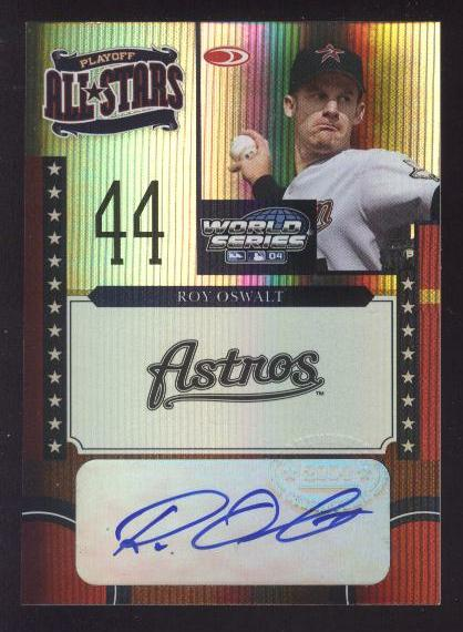 2004 Donruss World Series Playoff All-Stars Signature #7 Roy Oswalt/25