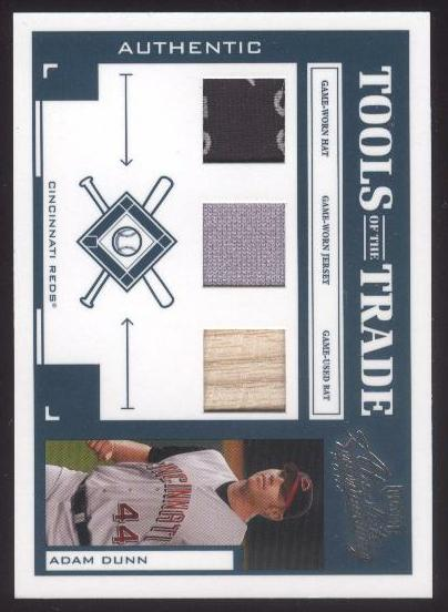 2004 Absolute Memorabilia Tools of the Trade Material Trio #2 Adam Dunn A/100