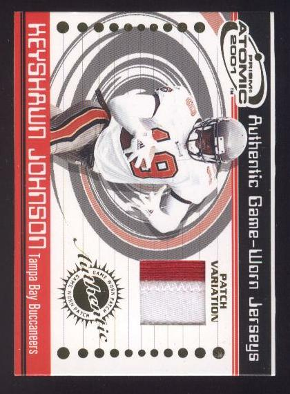 2001 Pacific Prism Atomic Jersey Patches #94 Keyshawn Johnson