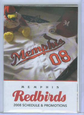 2008 Memphis Redbirds Cardinals AAA Pocket Schedule