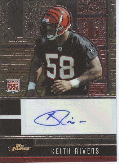 2008 Finest Autographs #148 Keith Rivers/400*