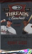 2 PACK LOT : 2008 Donruss Threads Baseball Factory Sealed Hobby Pack ( Random Autographs & Memorabilia Cards! )