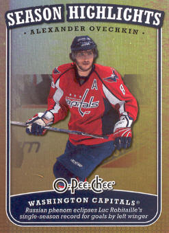 2008-09 O-Pee-Chee Season Highlights #SH2 Alexander Ovechkin